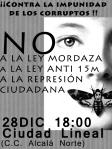 cartel concentracion no a la ley mordaza 28-12-2013